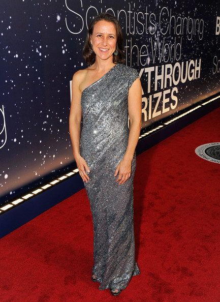 Anne Wojcicki One Shoulder Dress