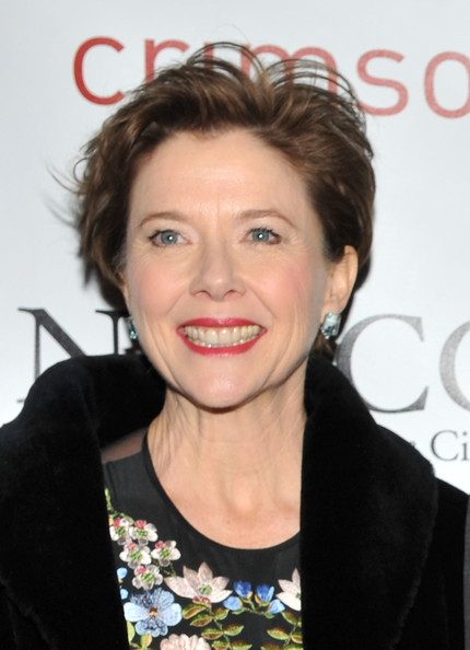 Annette Bening Messy Cut [hair,hairstyle,eyebrow,face,lip,forehead,chin,beauty,smile,blond,annette bening,new york city,crimson,new york film critics circle awards]