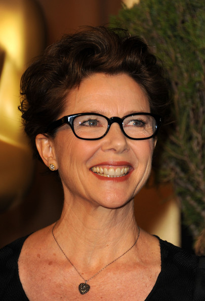 Annette Bening Messy Cut [hair,face,glasses,eyebrow,eyewear,chin,hairstyle,forehead,neck,smile,arrivals,annette bening,83rd academy awards,beverly hills,california,beverly hilton hotel,luncheon,nominations luncheon]