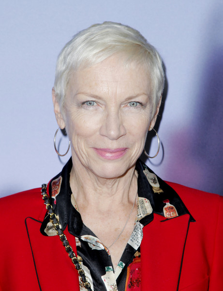 Annie Lennox Pixie [aviron pictures,red carpet,hair,face,blond,hairstyle,chin,official,annie lennox,los angeles,beverly hills,california,samuel goldwyn theater,a private war,premiere]