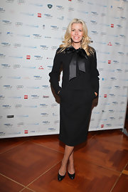 Aviva Drescher wore a classic pencil skirt at a charity event hosted by Cantor Fitzgerald.