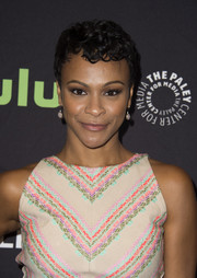 Carly Hughes wore a curly pixie at the PaleyFest Fall TV Previews.