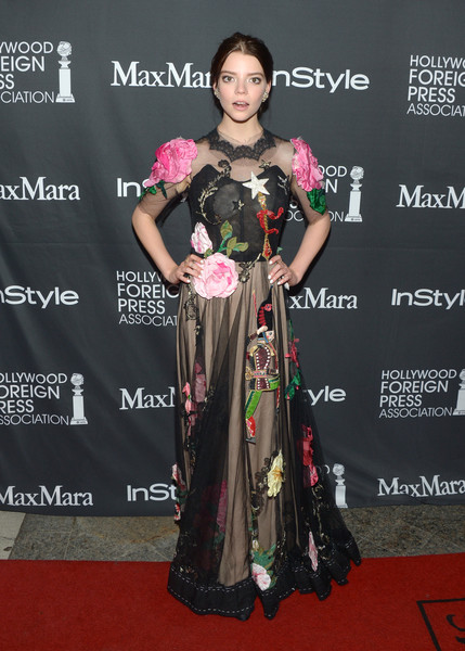 Anya Taylor-Joy Embroidered Dress [clothing,red carpet,carpet,premiere,flooring,dress,formal wear,event,fashion design,gown,anya taylor-joy,arrivals,windsor arms hotel,toronto,canada,instyle,party,hfpa,hfpa party,tiff]