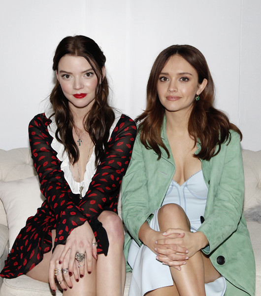 Anya Taylor-Joy Red Nail Polish [beauty,fashion,leg,sitting,photo shoot,fashion design,long hair,photography,outerwear,thigh,olivia cooke,anya taylor-joy,thoroughbreds,l-r,west hollywood,focus features,premiere,party,premiere,party]