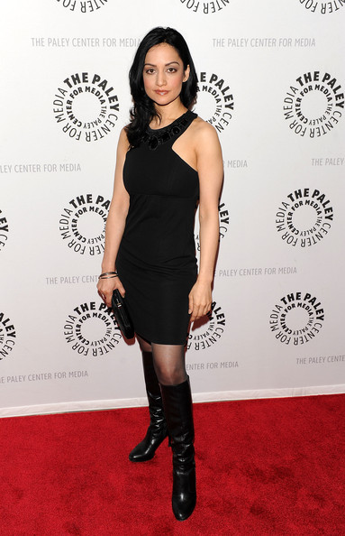 Archie Panjabi Knee High Boots