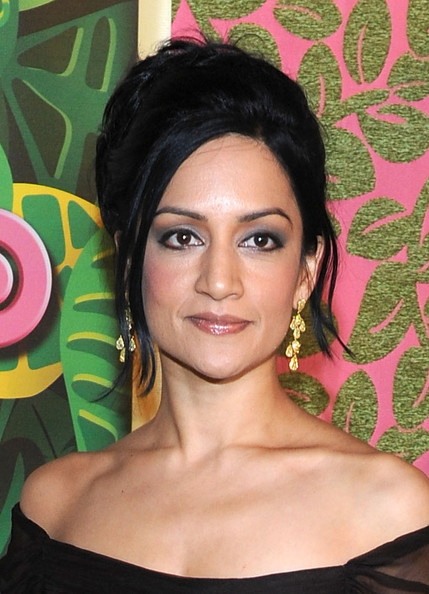 Archie Panjabi Gold Dangle Earrings