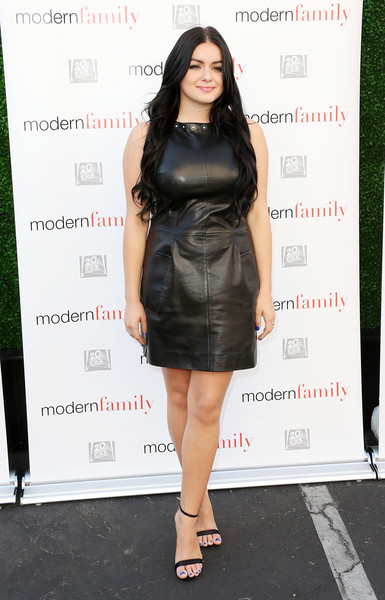 Ariel Winter Leather Dress Fashion Lookbook Stylebistro