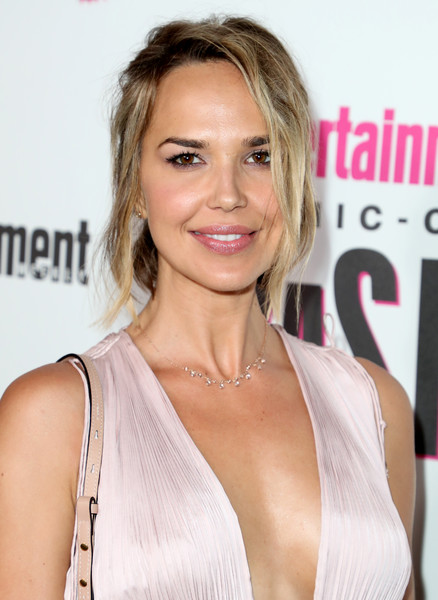 Arielle Kebbel Loose Ponytail [entertainment weekly hosts its annual comic-con party at float at the hard rock hotel,san diego in celebration of comic-con 2018 - arrivals,hair,blond,hairstyle,face,shoulder,eyebrow,skin,lip,beauty,chin,arielle kebbel,float,san diego,california,hard rock hotel,entertainment weekly,hbo,comic-con bash]