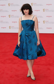 Alexandra Roach's A-line frock had a fun retro flare with its full skirt, floral pattern, and cinched waist.