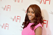 Aja Naomi King looked super sweet with her spiral curls at the AFI Awards.