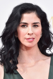 Sarah Silverman attended the Emmys sporting a cascade of spiral waves.