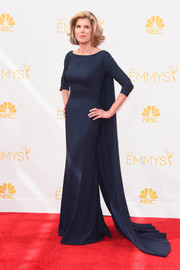 Christine Baranski looked like royalty in this caped blue gown at the Emmys.