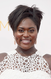 Danielle Brooks injected a rocker edge into her glam Emmys look with this layered razor cut.