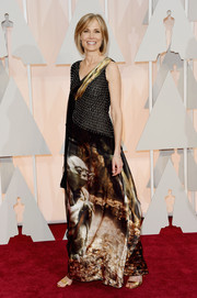 Willow Bay got a little playful with her Oscars look, wearing a Yoda gown by Rodarte.