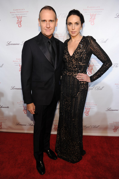 Monica Mitro oozed classic elegance in a beaded black evening dress during the Angel Ball.