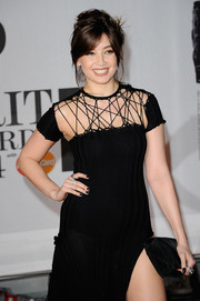 Daisy Lowe was goth at the 2014 Brit Awards with her black nail polish and matching dress.