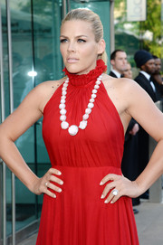 Busy Philipps' Irene Neuwirth statement necklace went beautifully with her red halter dress at the CFDA Fashion Awards.