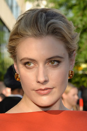 Greta Gerwig went for classic styling with this soft bun when she attended the CFDA Fashion Awards.