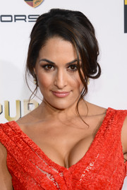 Nikki Bella styled her hair into a romantic loose updo for the Critics' Choice Awards.