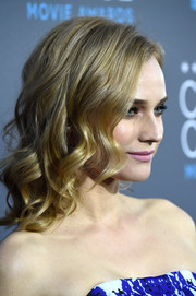 Diane Kruger wore her hair in glamorous curls at the Critics' Choice Movie Awards.