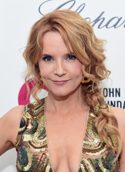 Lea Thompson wore a braid that was loose, messy, and oh-so-lovely to Elton John's Oscar-viewing party.