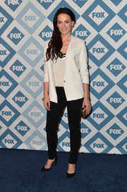 Katia Winter opted for black skinnies instead of a dress when she attended the Fox All-Star party.