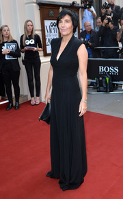 Sharleen Spiteri opted for a basic black V-neck gown when she attended the GQ Men of the Year Awards.