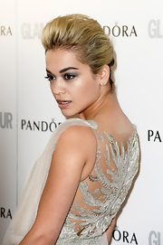 Rita Ora opted for a super teased French Twist for her look at the 'Glamour' Women of the Year Awards.