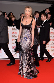The TV host went glam in a silky Giles gown at the 2015 National Television Awards.