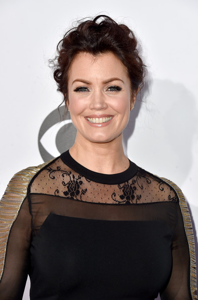 More Pics of Bellamy Young Messy Updo (1 of 25) - Updos Lookbook - StyleBistro [hair,hairstyle,shoulder,beauty,brown hair,premiere,smile,dress,neck,black hair,peoples choice awards,part,california,los angeles,nokia theatre la live,arrivals,bellamy young]