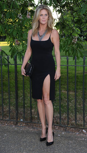 Rachel Hunter looked ageless in a spaghetti-strap LBD with a thigh-baring slit during the Serpentine Gallery Summer Party.