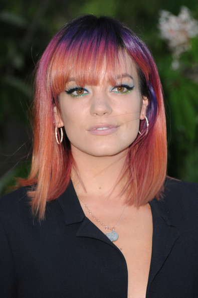 Lily Allen's Multicolored Cut