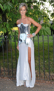 Victoria Hervey turned heads with her futuristic silver corset gown during the Serpentine Gallery Summer Party.