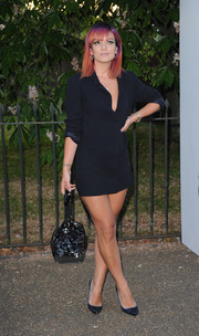 Lily Allen sizzled in a super-short black shirtdress at the Serpentine Gallery Summer Party.