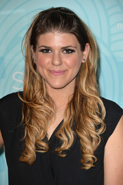 Molly Tarlov looked lovely wearing this curly half-up 'do at the Inspiration Awards.