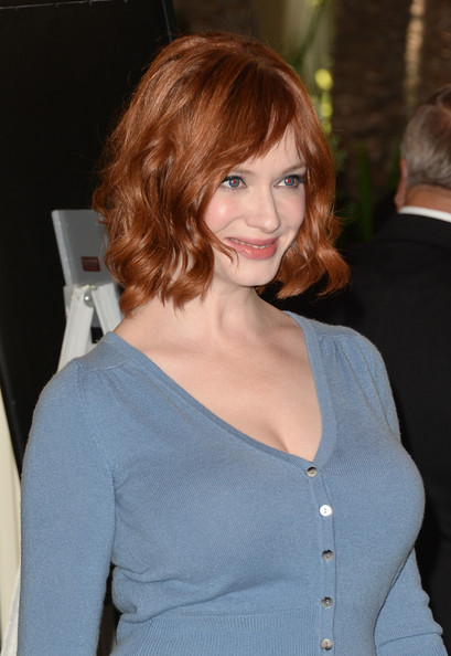 More Pics of Christina Hendricks Short Wavy Cut (2 of 8) - Christina Hendricks Lookbook - StyleBistro