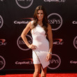 Danica Patrick in an Asymmetric White Bodycon Dress