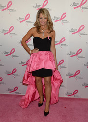 Cindy Citrone channeled Barbie with this strapless black and pink fishtail dress at the Hot Pink Party.