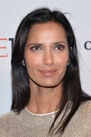 Padma Lakshmi wore her hair loose and straight when she attended the Time 100 Gala.