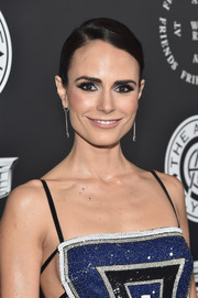 Jordana Brewster attended the Art of Elysium Heaven Gala wearing a sleek side-parted chignon.