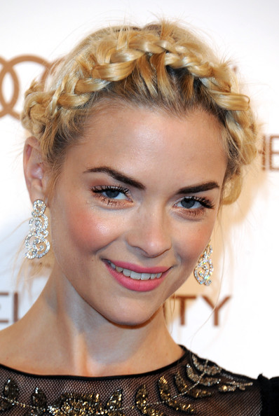 More Pics of Jaime King Braided Updo (1 of 15) - Braided Updo Lookbook - StyleBistro