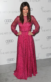Rachel Bilson was as cute as ever in this hot fuchsia leopard print dress at the Art of Elysium Heaven Gala.