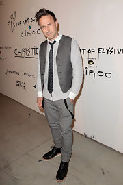 David Arquette showed his playful side with a dotted tie and untucked shirt at the Pieces of Heaven event in LA.