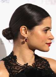 Melonie Diaz looked seriously chic with her tight braided bun at the Art of Elysium's Heaven Gala.