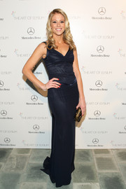 Katrina Begin chose a simple navy evening dress for the Art of Elysium's Heaven Gala.