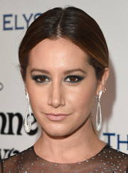 Ashley Tisdale pulled her hair back into a casual center-parted ponytail for the Heaven Gala.