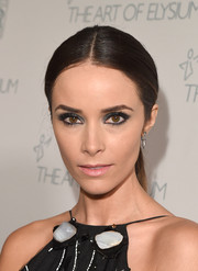 Abigail Spencer attended the Art of Elysium Heaven Gala wearing a severe center-parted ponytail.