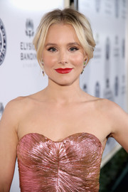 Kristen Bell styled her hair into a loose center-parted updo for the Art of Elysium Heaven Gala.