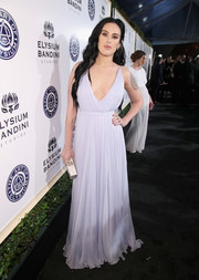 Rumer Willis chose a plunging lilac Grecian gown for the Art of Elysium Heaven Gala.