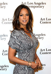 Eva la Rue wore a star-embellished resin cuff bracelet to the Art Los Angeles Contemporary opening.
